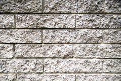 Rauer grauer Backsteinmauerhintergrund Lizenzfreie Stockfotografie