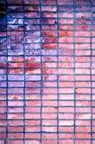 Rauer grunge Backsteinmauerhintergrund Stockbild