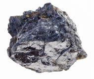 rauer Stein der bitumenhaltigen Steinkohle auf Weiß lizenzfreies stockfoto