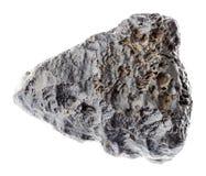 rauer Stein des Hämatit (Eisen Nieren-Erz) auf Weiß lizenzfreies stockfoto