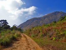 Rauer Weg zum Berg Stockfotografie