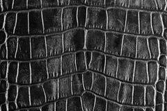 Raues schwarzes Leder Stockfoto