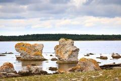 Rauk landscape Stock Image