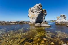 Raukar on Gotland Stock Images