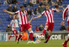 Raul Garcia and Gabi Fernandez of Atletico Madrid Royalty Free Stock Photography