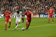 Raul gegen Liverpool Stockbilder