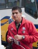 Raul Rodrigues墨西哥奥林匹克橄榄球队 免版税库存照片