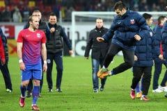 Μέσα FC Steaua Βουκουρέστι FC Gaz Metan Στοκ Εικόνες