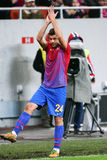 FC Steaua Bucharest- FC Gaz Metan Medias. Raul Rusescu applauding the supporters, during the football match, counting for the Romanian League One , between FC Royalty Free Stock Photography
