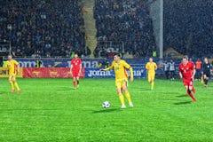 Raul Rusescu (Romania) che gioca la palla immagine stock libera da diritti