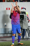 Medel för FC Steaua Bucharest FC Gaz Metan Royaltyfri Foto