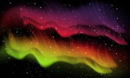 Raum, Aurorahintergrund Lizenzfreie Stockbilder