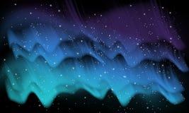 Raum, Aurorahintergrund Stockfoto