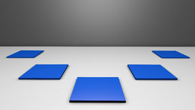Raum 3D mit Stand Lizenzfreie Stockfotos