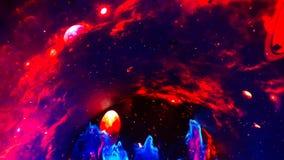 Raum in den hellen Spezialeffekten Stockbild