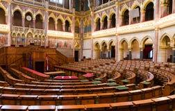 Raum des Kongresses, ungarisches Parlament Stockfotografie