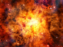 Raum-Explosions-Hintergrund Stockfoto