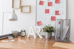 Raum für den Designer, der nach Hause arbeitet Stockfotografie