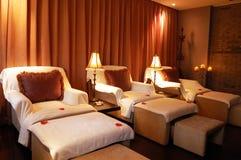 Raum für Entspannung in einem Badekurort Stockbilder