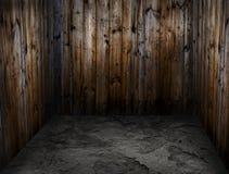 Raum gemacht vom Holz Stockfotografie