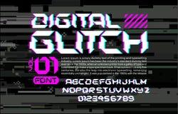 Raum-Gussbeschriftung des Störschubs High-Teche auf digitaler Störschubhintergrundcyberpunkart-Designzusammensetzung mit Stereovi Stockfoto