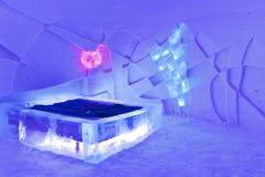 Raum im Eishotel Lizenzfreie Stockfotos