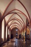 Raum im größten gotischen Schloss in Europa - Malbork Lizenzfreie Stockfotos