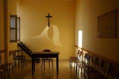 Raum im Kloster Stockfotos