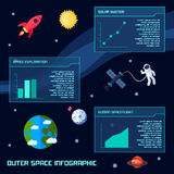 Raum Infographic-Satz Stockbilder