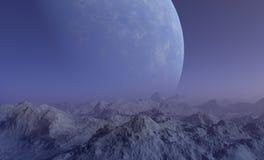 Raum-Kunst: Nebeliger ausländischer Planet Lizenzfreies Stockbild