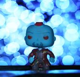Raum-Mann im Blau lizenzfreie stockbilder