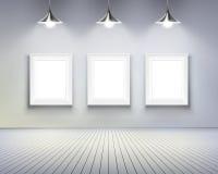 Raum mit Abbildungen. Vektorabbildung. stock abbildung