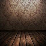 Raum mit alter Tapete Lizenzfreies Stockfoto