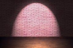 Raum mit Backsteinmauer Stockbild