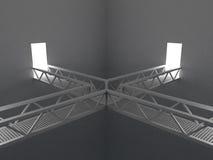 Raum mit Brücken Stockfotos