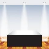Raum mit einem Kasten Stockfotografie