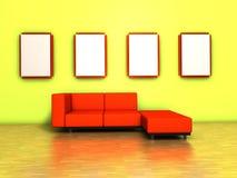 Raum mit einem Sofa Lizenzfreies Stockbild
