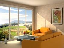 Raum mit einer Ansicht Stockbilder