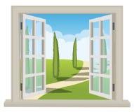 Raum mit einer schönen Ansicht Lizenzfreies Stockbild