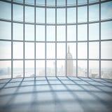 Raum mit großem Fenster Stockbild