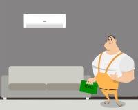 Raum mit Klimaanlage stock abbildung