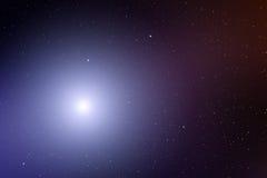 Raum mit Nebelfleck und hellem Stern Lizenzfreie Stockfotografie