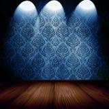 Raum mit Scheinwerfern vektor abbildung