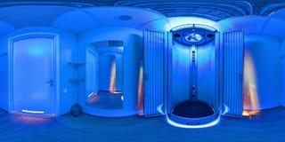 Raum mit Solarium stockbilder