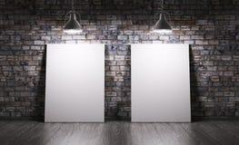 Raum mit zwei Poster Lizenzfreie Stockfotos