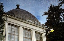 Raum pavillion Architektur von VDNKH-Park in Moskau lizenzfreie stockfotografie