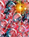 Raum- und Blasenhintergrund Lizenzfreie Stockbilder