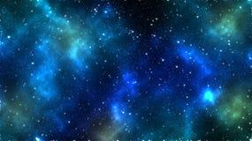 Raum und der sternenklare Himmel Stockfotos