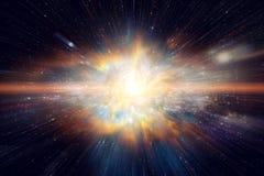 Raum- und Galaxielichtgeschwindigkeitsreise lizenzfreies stockbild