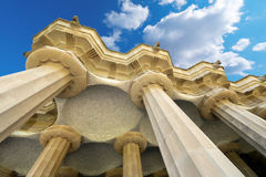 Raum von 100 Spalten - Park Guell Barcelona Lizenzfreies Stockbild